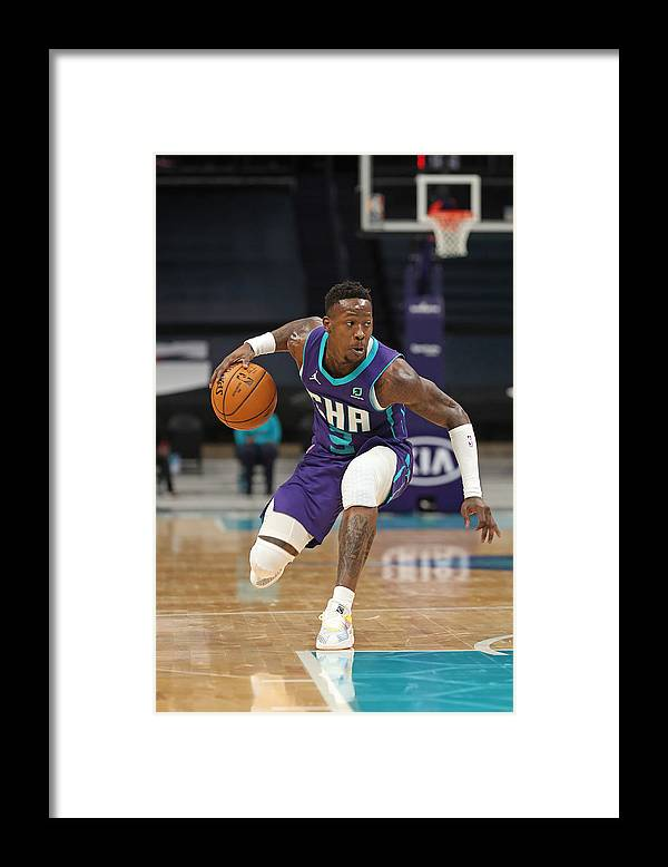 Nba Pro Basketball Framed Print featuring the photograph Terry Rozier by Brock Williams-Smith