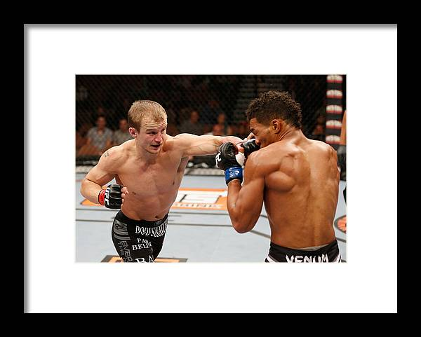 Martial Arts Framed Print featuring the photograph The Ultimate Fighter Finale: Ronson vs Lee by Josh Hedges