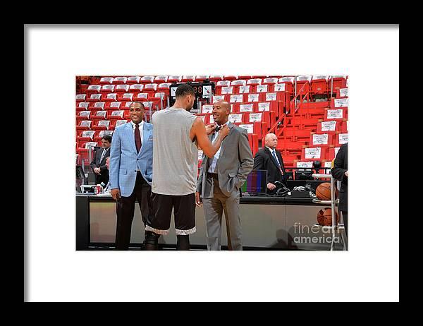 Playoffs Framed Print featuring the photograph Tim Duncan and Bruce Bowen by Jesse D. Garrabrant