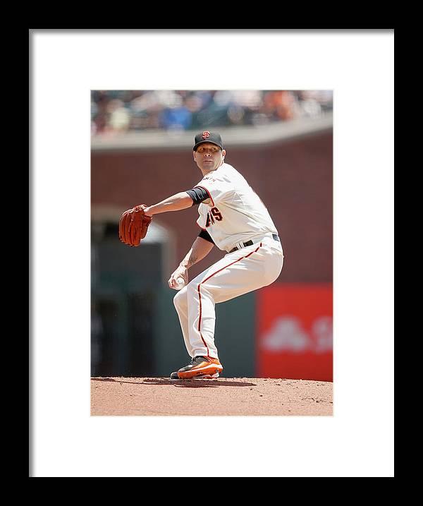 San Francisco Framed Print featuring the photograph Tim Hudson by Ezra Shaw