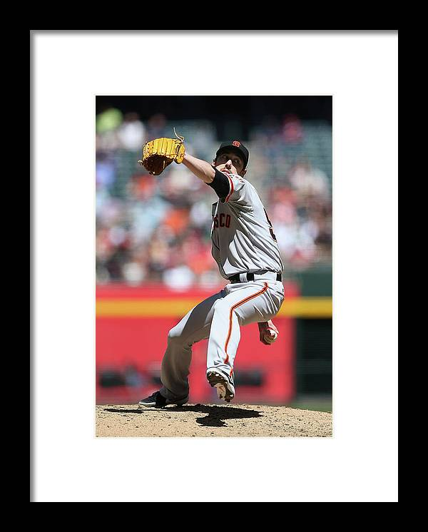 Tim Lincecum Framed Print featuring the photograph Tim Lincecum by Christian Petersen