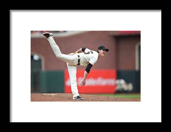 San Francisco Framed Print featuring the photograph Tim Lincecum by Jason O. Watson