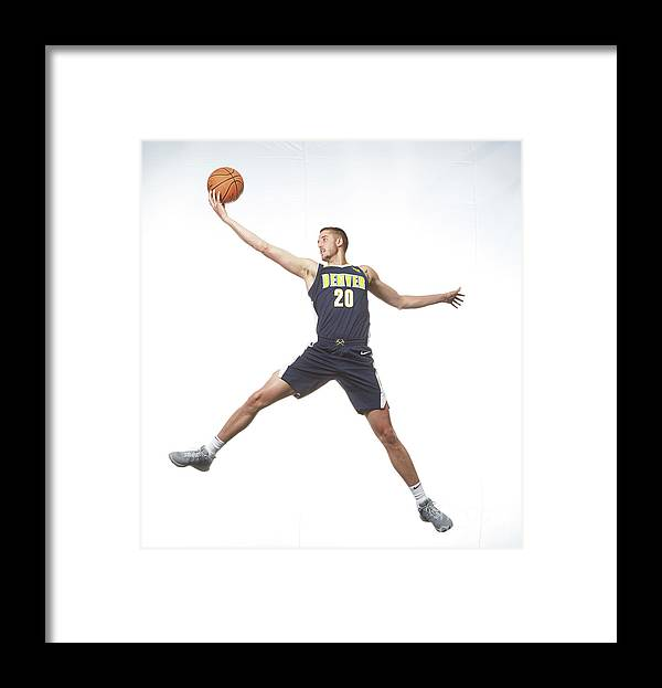 Nba Pro Basketball Framed Print featuring the photograph T.j. Leaf by Nathaniel S. Butler