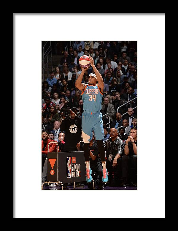 Event Framed Print featuring the photograph Tobias Harris by Andrew D. Bernstein
