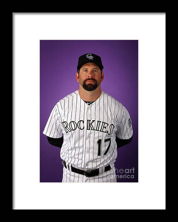 Media Day Framed Print featuring the photograph Todd Helton by Christian Petersen