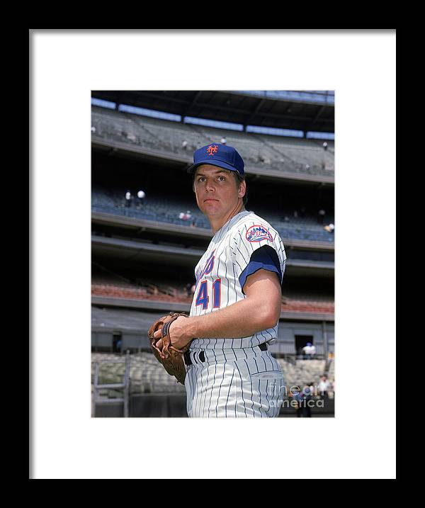 Tom Seaver Framed Print featuring the photograph Tom York by Louis Requena