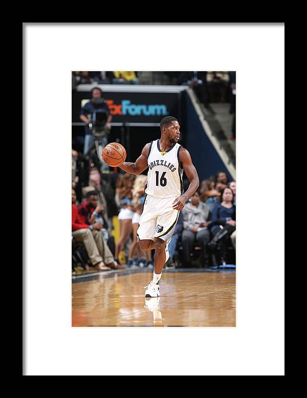 Nba Pro Basketball Framed Print featuring the photograph Toney Douglas by Joe Murphy
