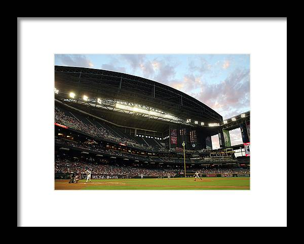 Motion Framed Print featuring the photograph Tony Cingrani by Christian Petersen