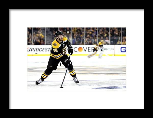 Playoffs Framed Print featuring the photograph Toronto Maple Leafs v Boston Bruins - Game Seven by Maddie Meyer