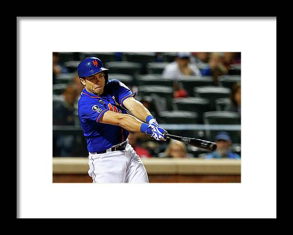 American League Baseball Framed Print featuring the photograph Travis D'arnaud by Rich Schultz