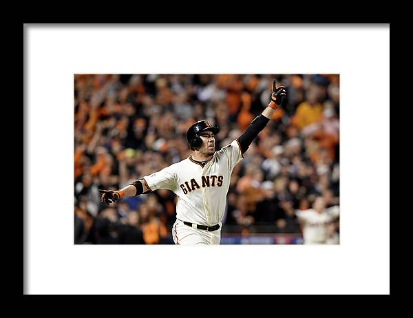 Playoffs Framed Print featuring the photograph Travis Ishikawa by Thearon W. Henderson