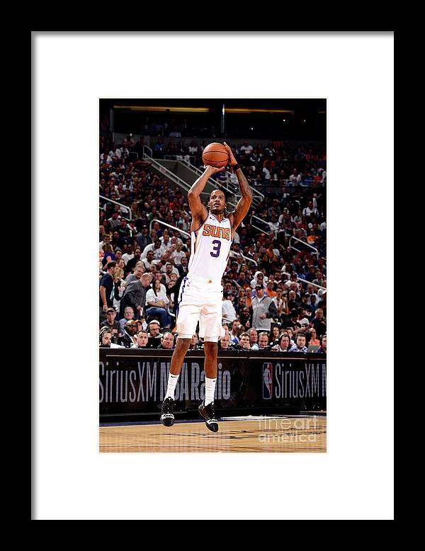 Nba Pro Basketball Framed Print featuring the photograph Trevor Ariza by Barry Gossage