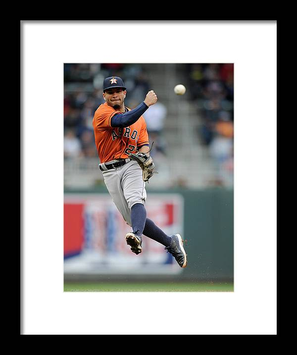 American League Baseball Framed Print featuring the photograph Trevor Plouffe by Hannah Foslien