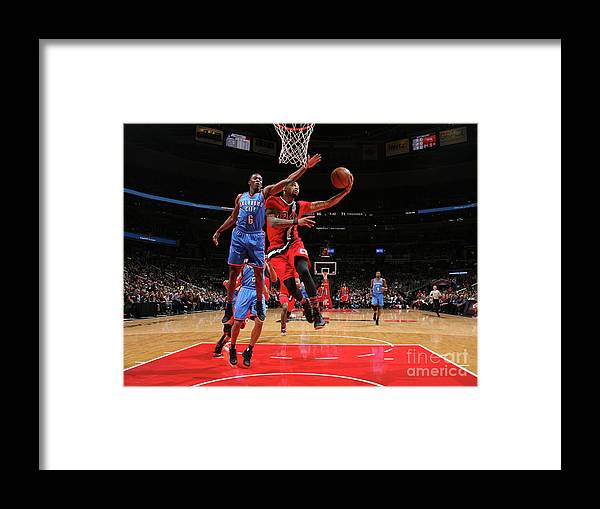 Nba Pro Basketball Framed Print featuring the photograph Trey Burke by Ned Dishman