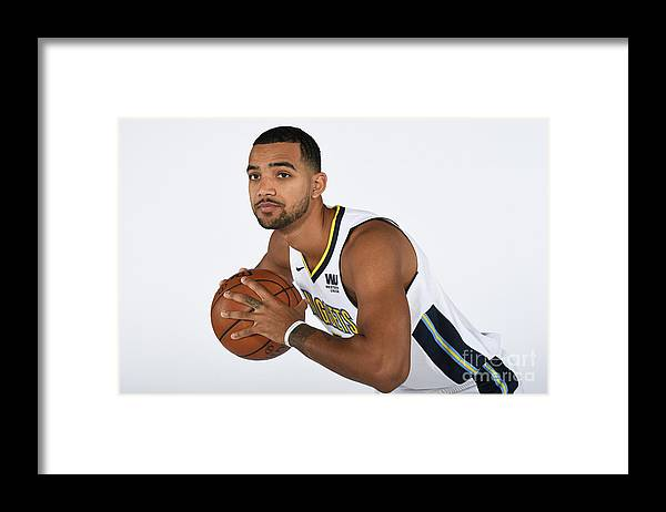 Media Day Framed Print featuring the photograph Trey Lyles by Garrett Ellwood
