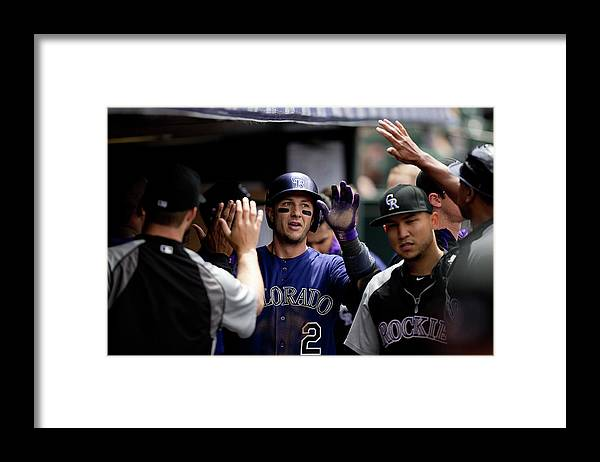 Second Inning Framed Print featuring the photograph Troy Tulowitzki by Justin Edmonds