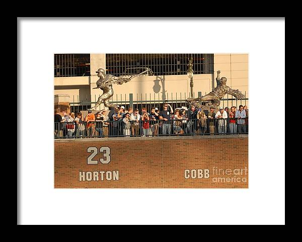 American League Baseball Framed Print featuring the photograph Ty Cobb by Mark Cunningham