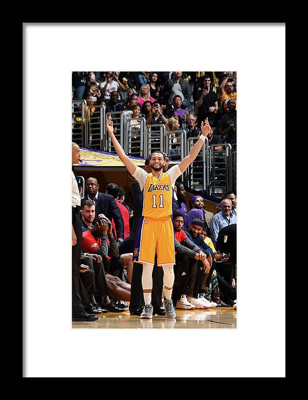 Nba Pro Basketball Framed Print featuring the photograph Tyler Ennis by Andrew D. Bernstein