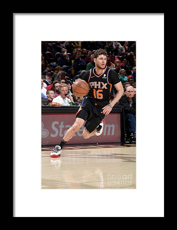 Nba Pro Basketball Framed Print featuring the photograph Tyler Johnson by David Liam Kyle