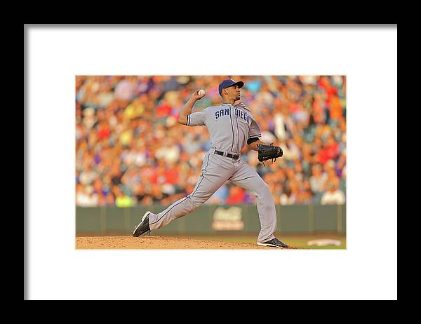 Home Base Framed Print featuring the photograph Tyson Ross by Justin Edmonds