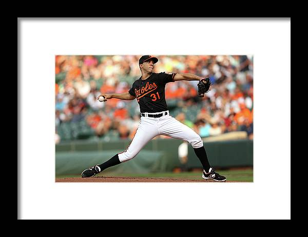 Working Framed Print featuring the photograph Ubaldo Jimenez by Patrick Smith