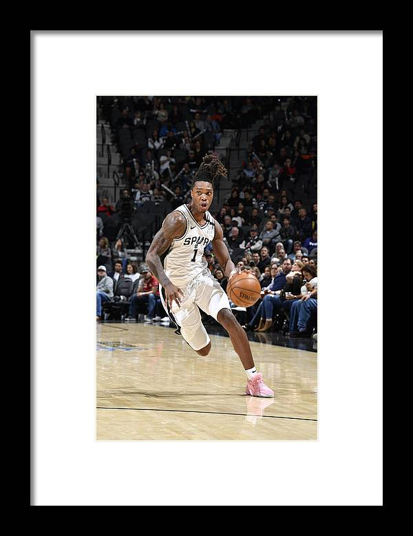 Nba Pro Basketball Framed Print featuring the photograph Utah Jazz v San Antonio Spurs by Logan Riely