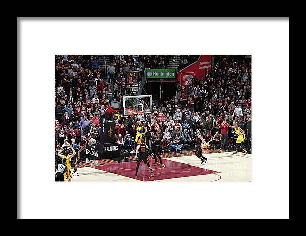 Playoffs Framed Print featuring the photograph Victor Oladipo and Lebron James by Nathaniel S. Butler