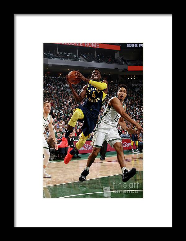 Nba Pro Basketball Framed Print featuring the photograph Victor Oladipo by Gary Dineen