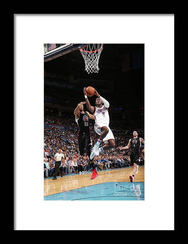 Nba Pro Basketball Framed Print featuring the photograph Victor Oladipo by Layne Murdoch