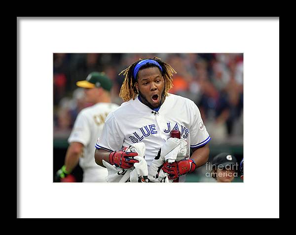 People Framed Print featuring the photograph Vladimir Guerrero by Jason Miller
