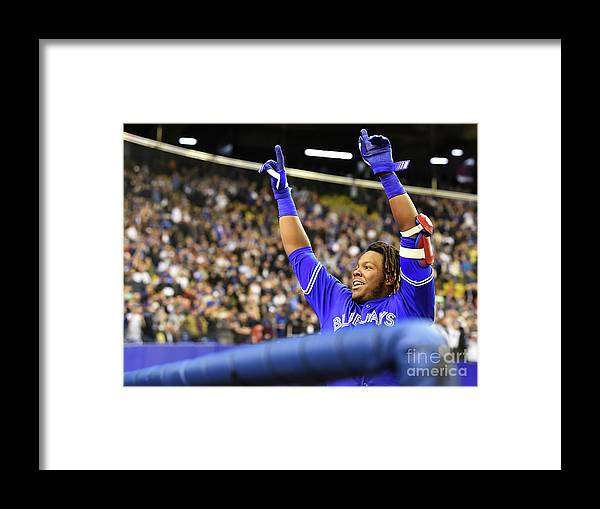 People Framed Print featuring the photograph Vladimir Guerrero by Minas Panagiotakis