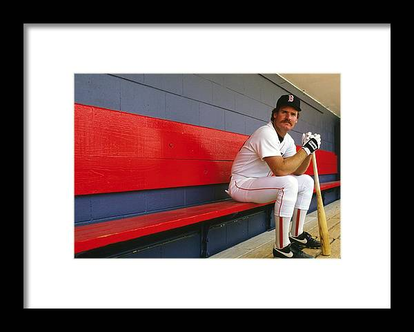1980-1989 Framed Print featuring the photograph Wade Boggs by Ronald C. Modra/sports Imagery