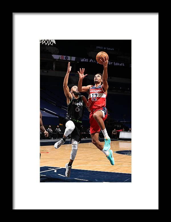 Jerome Robinson Framed Print featuring the photograph Washington Wizards v Minnesota Timberwolves by David Sherman