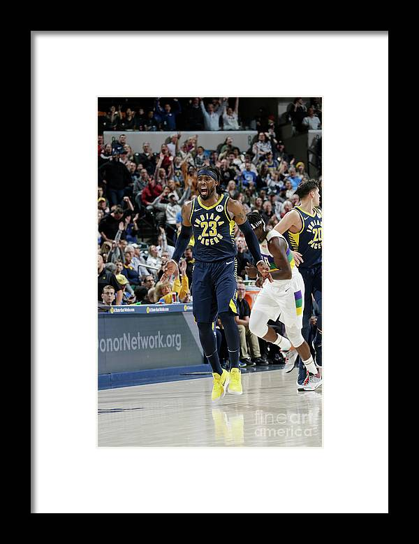Nba Pro Basketball Framed Print featuring the photograph Wesley Matthews by Ron Hoskins