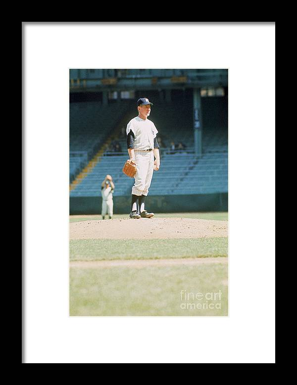American League Baseball Framed Print featuring the photograph Whitey Ford by Louis Requena
