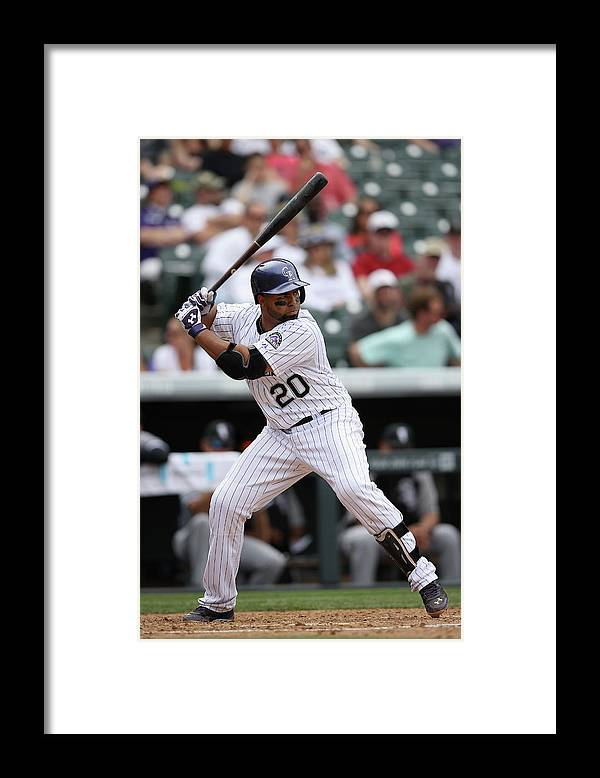 American League Baseball Framed Print featuring the photograph Wilin Rosario by Doug Pensinger