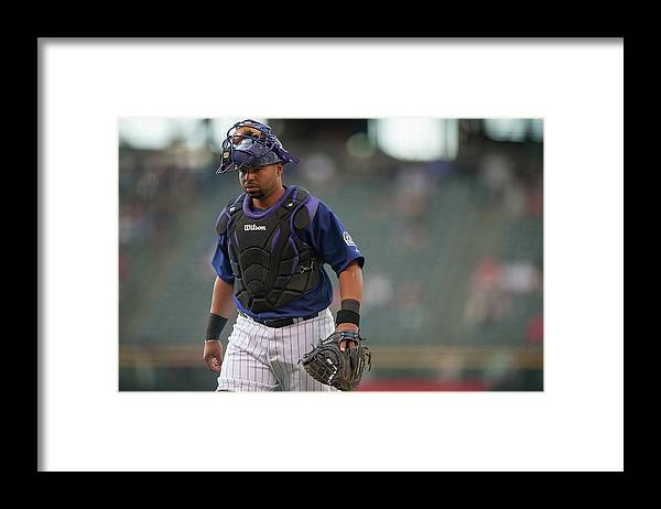 Home Base Framed Print featuring the photograph Wilin Rosario by Dustin Bradford