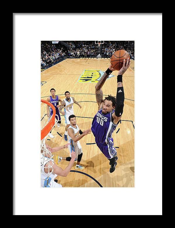 Nba Pro Basketball Framed Print featuring the photograph Willie Cauley-stein by Garrett Ellwood