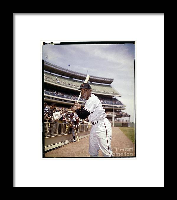 Willie Mays Framed Print featuring the photograph Willie Mays by Louis Requena