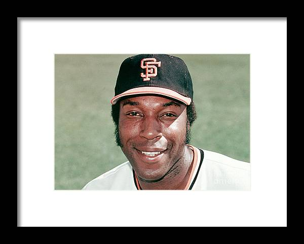 People Framed Print featuring the photograph Willie Mccovey by Mlb Photos