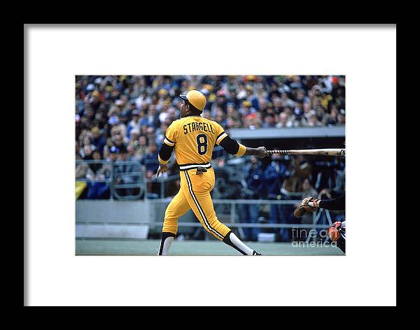 Sports Ball Framed Print featuring the photograph Willie Stargell by Rich Pilling