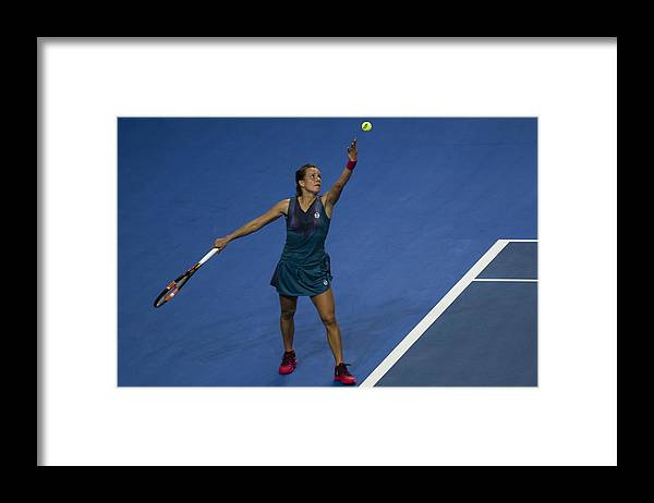Tennis Framed Print featuring the photograph WTA Elite Trophy Zhuhai 2017 - Day 3 by Power Sport Images
