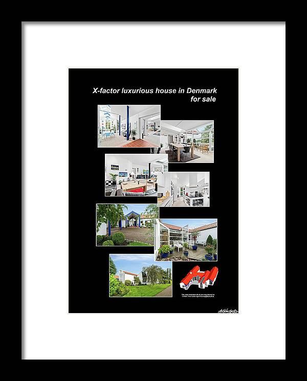 Framed Print featuring the mixed media X-Factor House in Hedensted, Denmark for sale. by Asbjorn Lonvig