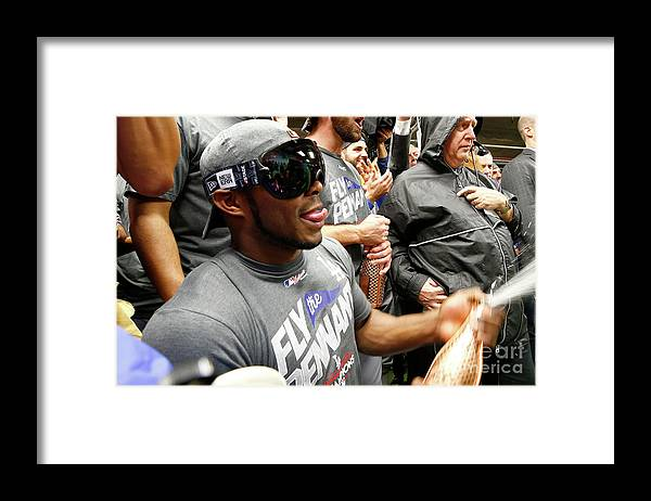 Championship Framed Print featuring the photograph Yasiel Puig by Jamie Squire