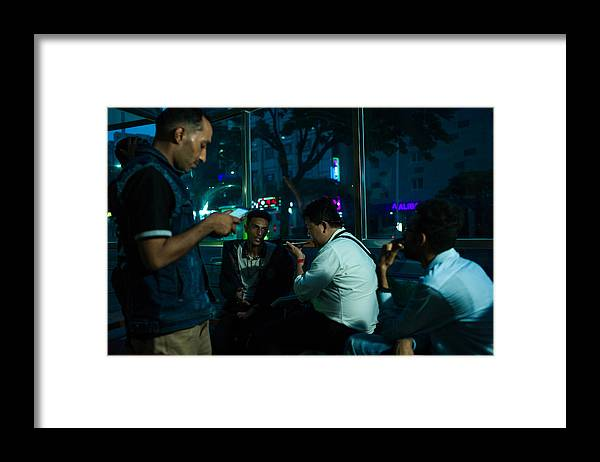 Social Issues Framed Print featuring the photograph Yemeni refugees in Jeju island, South Korea by NurPhoto