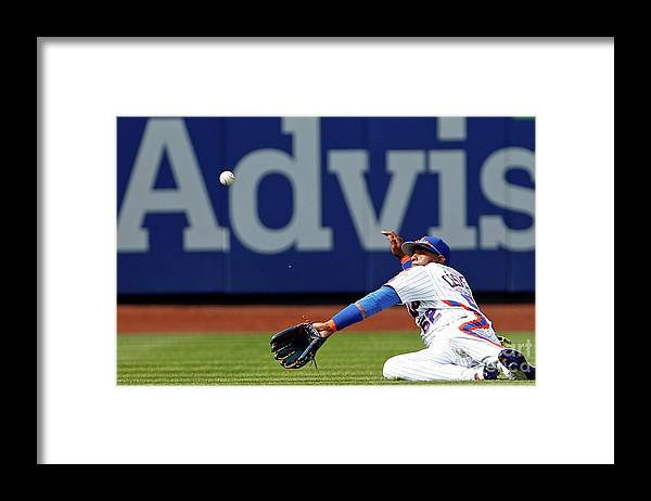 Yoenis Cespedes Framed Print featuring the photograph Yoenis Cespedes by Adam Hunger