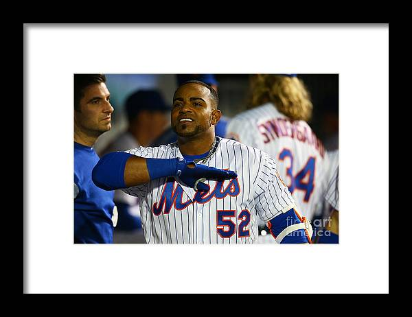 Yoenis Cespedes Framed Print featuring the photograph Yoenis Cespedes by Mike Stobe