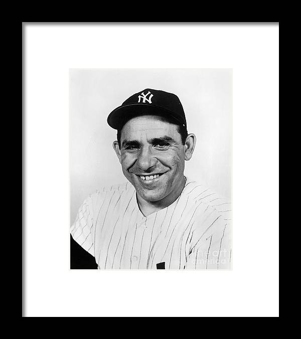 People Framed Print featuring the photograph Yogi Berra by National Baseball Hall Of Fame Library