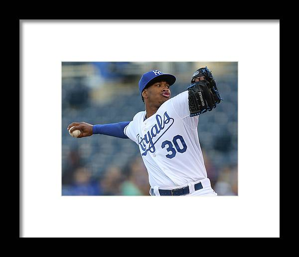 People Framed Print featuring the photograph Yordano Ventura by Ed Zurga