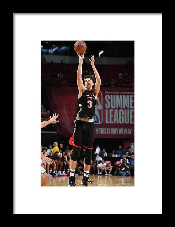Nba Pro Basketball Framed Print featuring the photograph Zach Collins by Garrett Ellwood